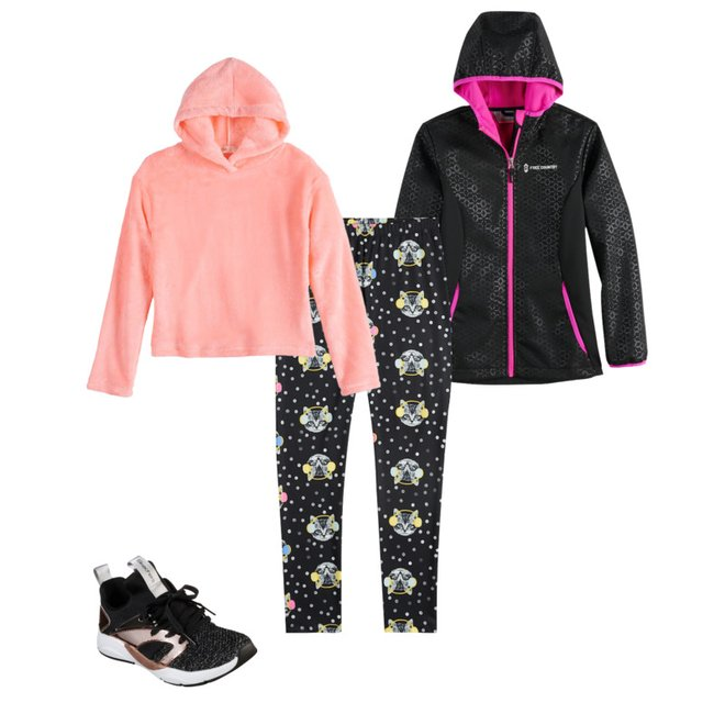 Girls 4 16 Free Country Softshell Jacket With Hood