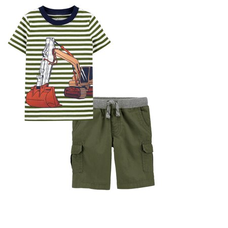 Carters Boys 2T-8 Cargo Shorts 2T