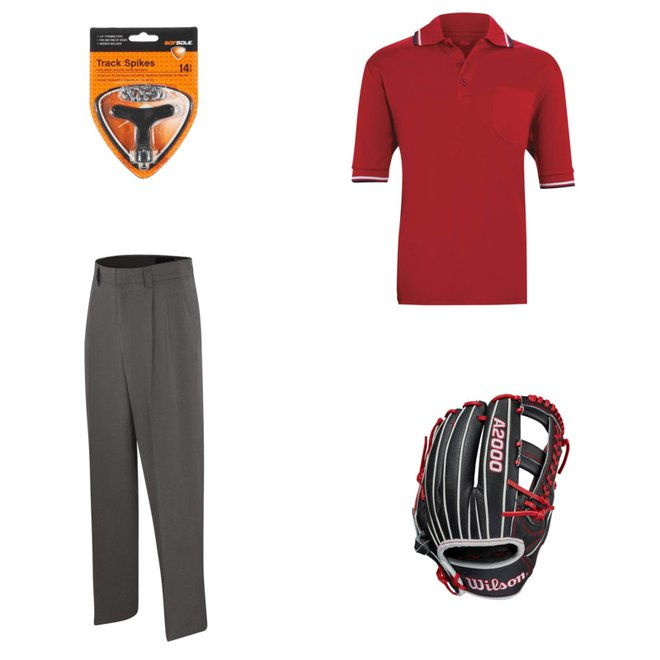 Adams Umpire Uniform Combo Poly//Spandex Pleated Pants