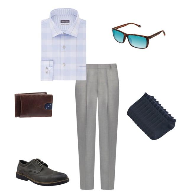 Men's Van Heusen Air Slim-Fit Spread-Collar Dress Shirt $4.40