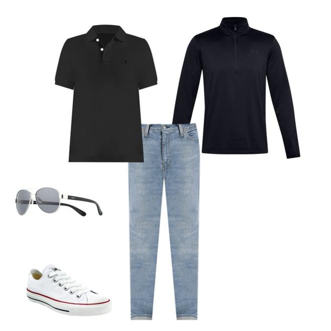 IZOD Mens Heritage Short Sleeve Solid Pique Polo