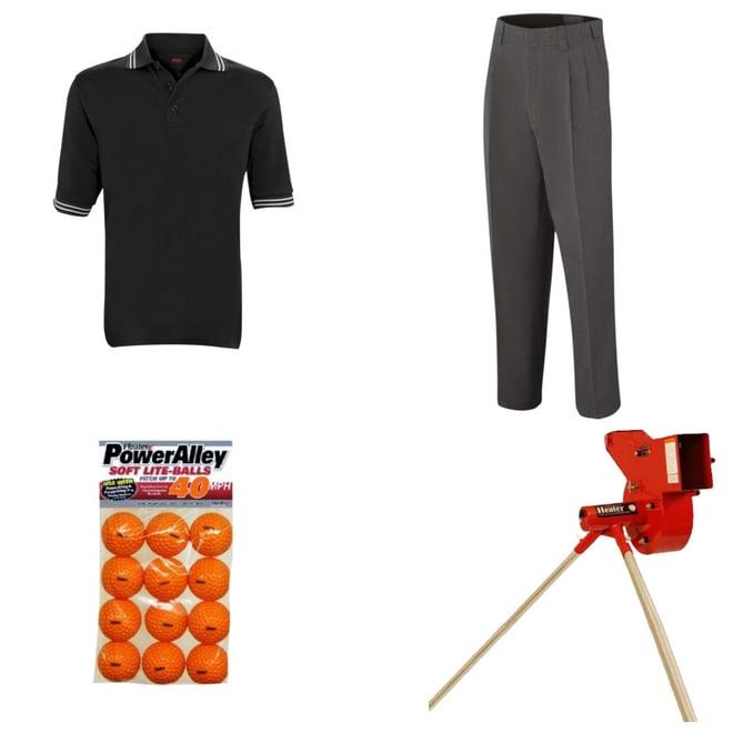 Adams USA Baseball//Softball Long Sleeve Umpire Polo X-Large