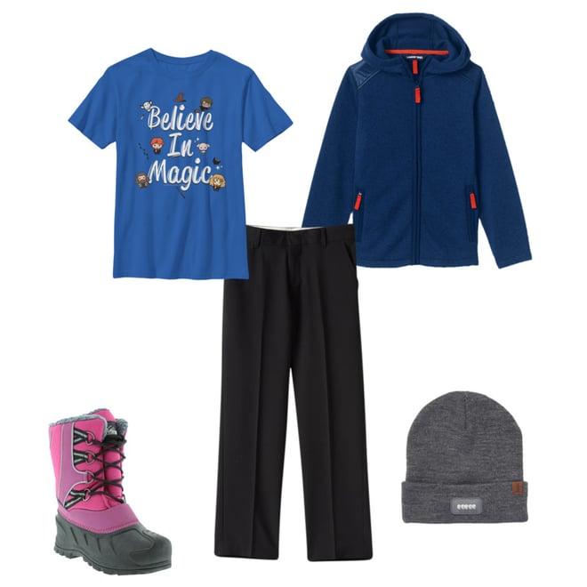 Lands End Boys Husky Sweater Fleece Jacket
